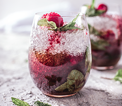 Raspberry mint cocktail