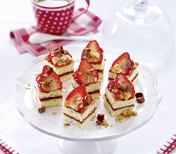 Petits Fours confectionery with strawberries