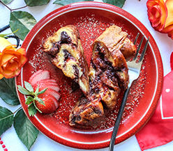 Strawberry & Nutella Baked French Toast